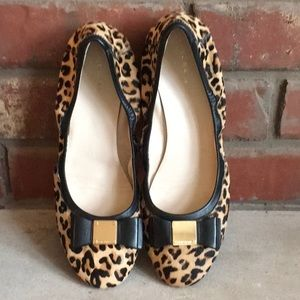Cole Haan Leopard Print Calf Hair Ballet Flats 9.5